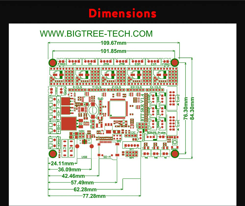BIGTREETECH SKR V1.4 Turbo 32bit Controller Panel Board for 3D Printer Compatible With12864LCD// TFT24 Support 8825//TMC2208//Tmc2130