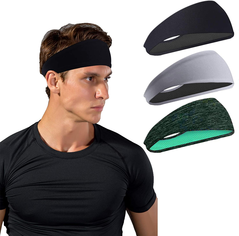 Mens Headband Sports Running Sweat Head Bands Athletic Sweatbands Hair Band