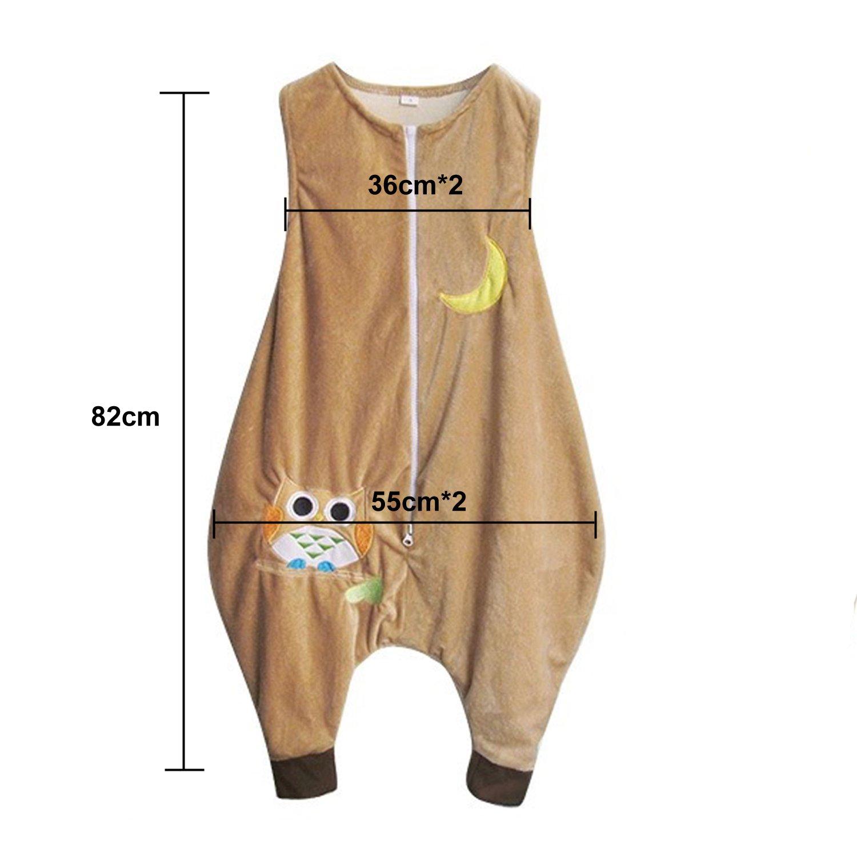 1-3 a/ños ZEEUPAI Sac de couchage avec jambes en flanelle pour enfants S /Étoiles Bleu marine