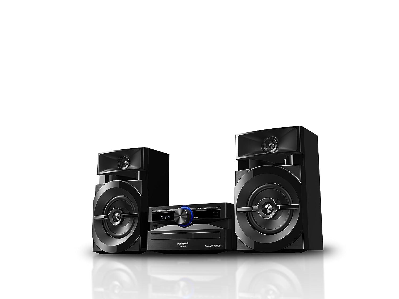 Panasonic SC-UX104EG-K CD-Micro-Musik Bluetooth,  Tuner DAB+//FM schwarz , USB, AUX-IN, DJ Jukebox, 300 Watt RMS