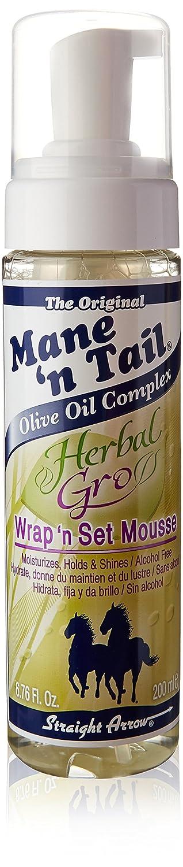 Mane 'n Tail 6.76 Oz Herbal Gro Wrap 'N Set Mousse Mane ' n Tail