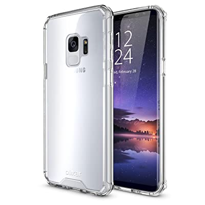 Samsung Galaxy S9Bumper Case–Hard TOUGH Cover–Olixar exosh––Shock Protection–Clear