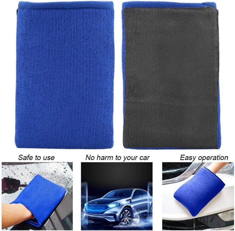 Easy Car Detailing Clay Bar Alternative Quickly Removes Bonded Contamination to Your Paint Glass Wheels and More Volwco Clay Bar Mitt