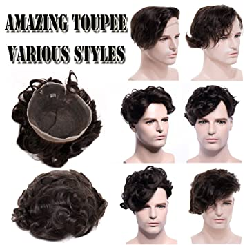 Amazon Com Full French Lace Toupee For Men 10 8 Thin