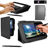 "G-HUB® Tablet Case for Original 7"" Hudl Tablet - BLACK Case / Cover / Skin with Built-In PropUp Stand (Dual Angle for Viewing & Typing Positions) - designed by G-HUB for use with Original Hudl 7 inch Tablet - Released in 2013 (NOT second 2014 version). Case includes BONUS: G-HUB ProPen Stylus."