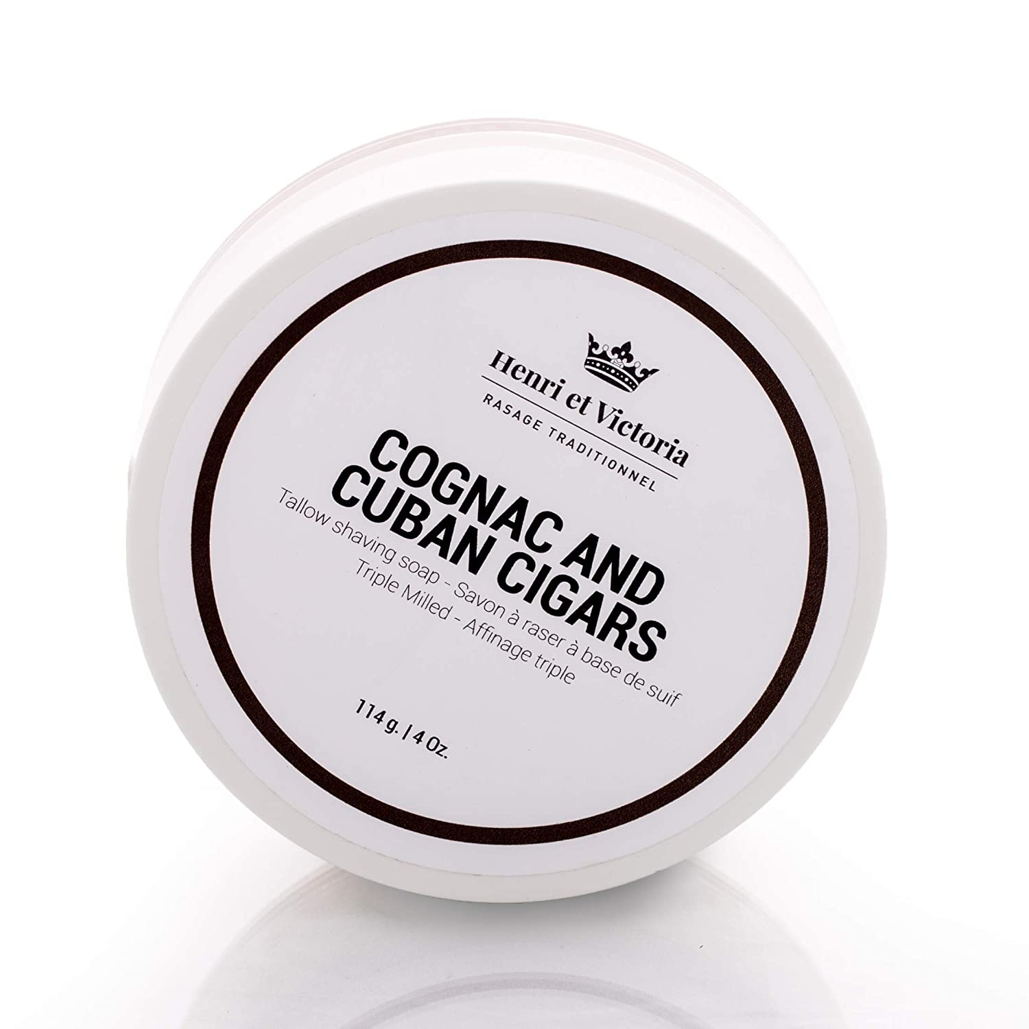 Cognac and Cuban Cigars Shaving Soap | Hand Made in CANADA | Henri et Victoria Triple Milled Shaving Soap For Men |Moisturizing, Ultra Glide, Cushioning, Easy Lather, Prevent Razor Burn and Dry Skin | 114 g (4 oz) Henri et Victoria Inc.