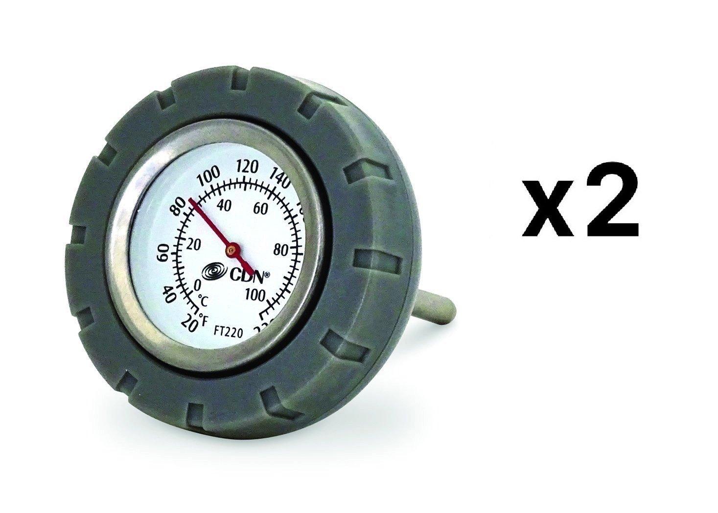 CDN Multi-Purpose Floating Waterproof Stainless Steel Thermometer Sauce (2-Pack)