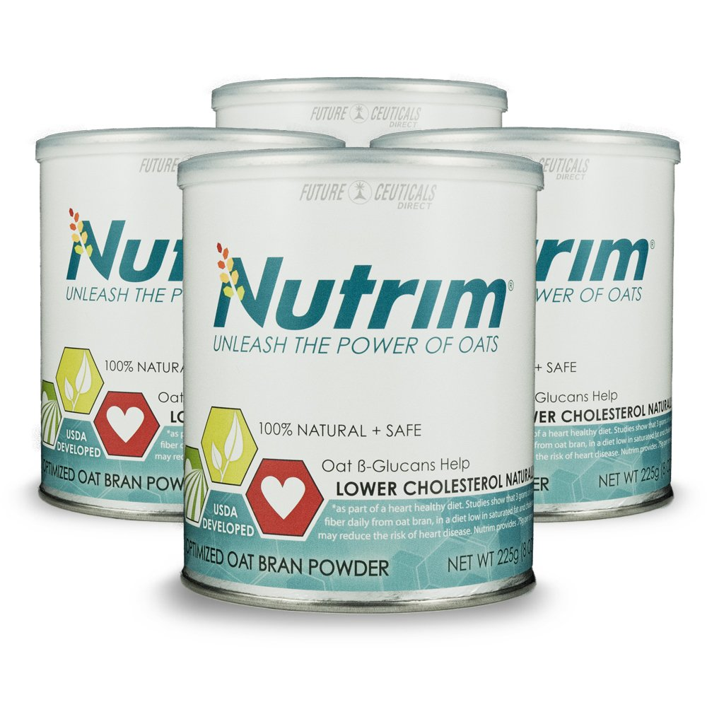 Nutrim® 4-30 Serving Cans (120 Servings) 2-month Supply - Oat Beta Glucans Help Lower Cholesterol Naturally by Nutrim