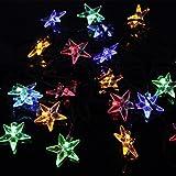 Easyinsmile Solar Waterproof 20 Star LED String Lights for Outdoor Garden and Chrismas Tree Decoration