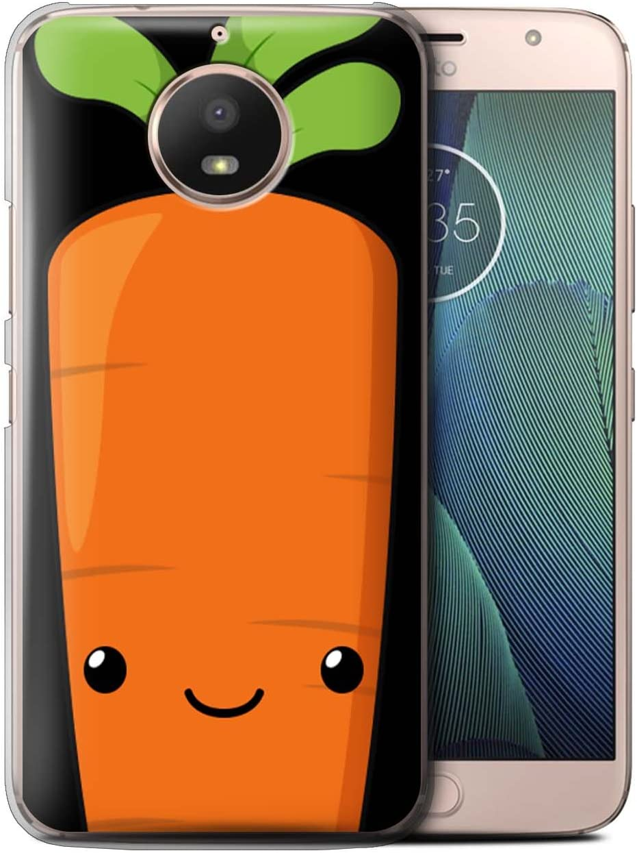 Phone Case for Motorola Moto E4 Plus 2017 Kawaii Food Carrot Design Transparent Clear Ultra Slim Thin Hard Back Cover