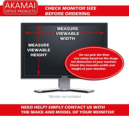 """Monitor Privacy Screen 19/"""" Blocks 96/% UV Matte or Gloss Finish Privacy Filter Protector Anti-Glare Info Protection for Desktop Computer Security APS19.0W Anti-Scratch 16:10 by Adaptix"""