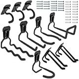 EJG 10-Pack Steel Garage Storage Utility Double Hooks, Max. Load 55lb, Super Heavy Load,7 Size Heavy Duty for Organizing…