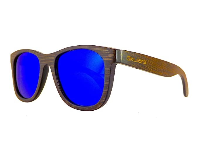 Okulars® Dark Bamboo - Gafas de Sol de Madera para Hombre & Mujer, Hecho