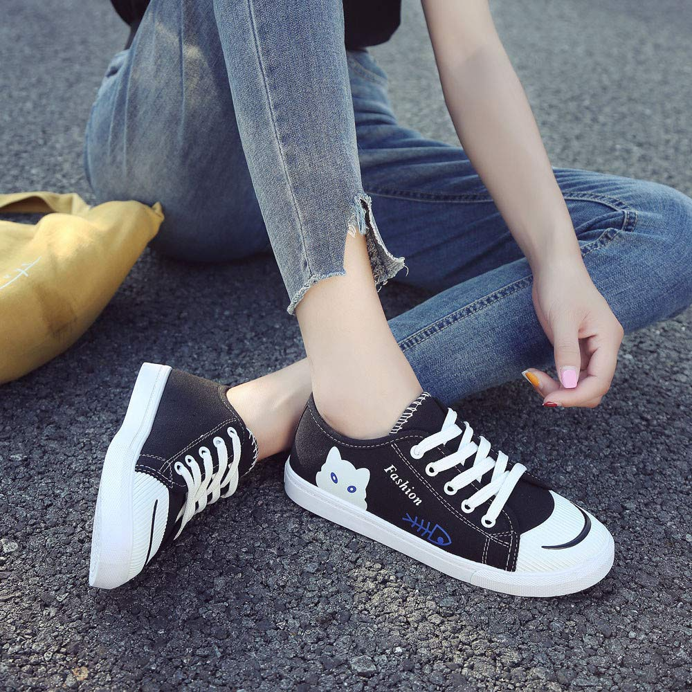ZEZKT Femme Chaussures de Sport Baskets Mode Mixte Adulte Chaussures de Sport Plat Chaussures de Course Chaussures /à Randonn/ée Chaussures de Running Sneakers Unisexes Chaussures en Toile