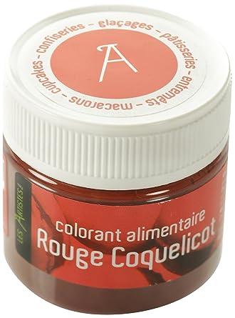 les artistes paris a 0403 colorant alimentaire rouge coquelicot - Colorant Rouge Alimentaire