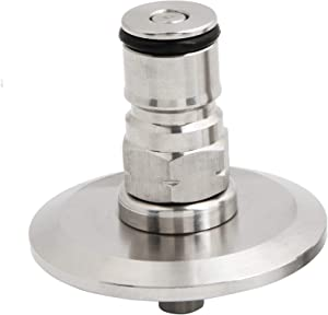 """1.5""""Tri Clamp to homebrew beer conry keg Ball Lock Post SS304 Sanitary Brewer Fitting 50.5mm OD ferrule SS conical fermenter pressure transfer (gas)19/32"""