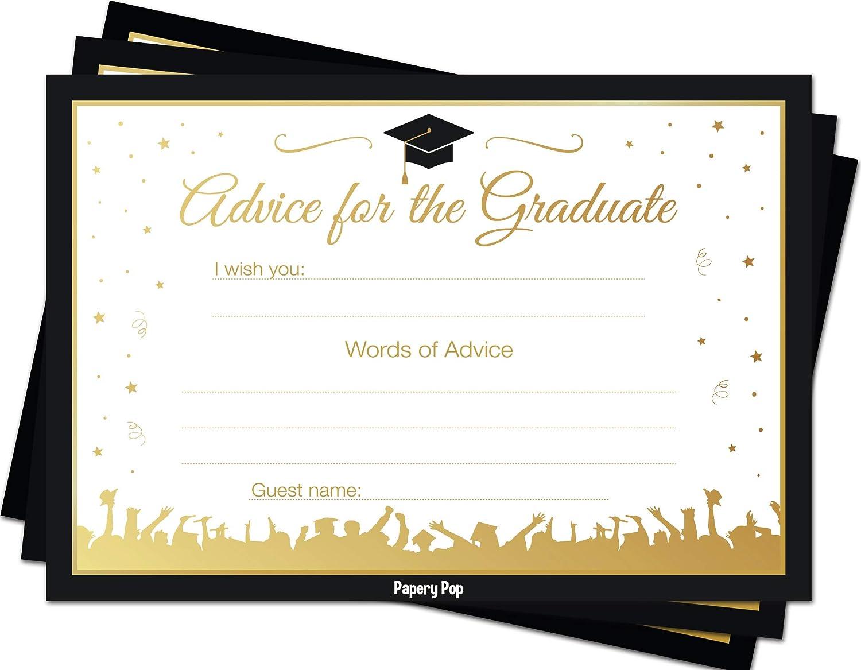 Amazon Com 2020 Graduation Advice Cards For The Graduate 50 Pack