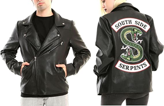 d1b08ea57a1f1 Riverdale Southside Serpents Faux Leather Jacket Official Licensed HT  Exclusive (Small)