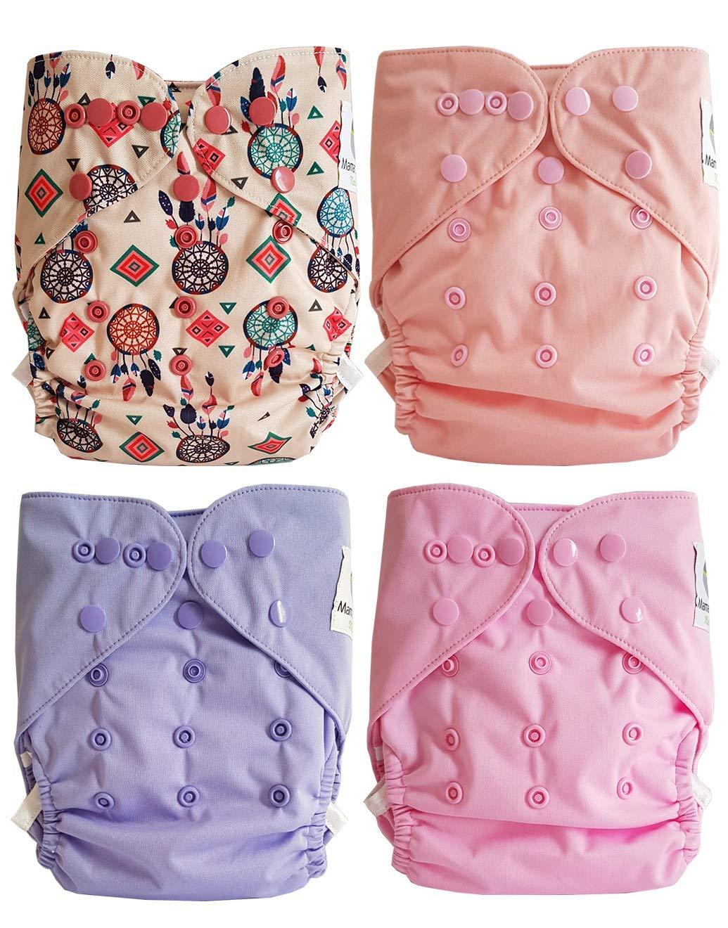 Maman et bb Nature Attrape r/êve Lot de 4 couches lavables TE2 /à doubles goussets