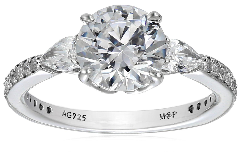 Myia Passiello Essentials Swarovski Zirconia Three Stone Clear Ring Size 8 Elite Group International NY R2757704_120_080