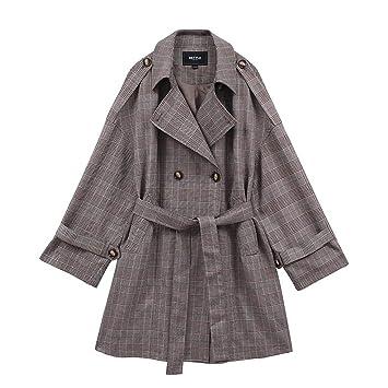 Abrigos Cazadora Corta para Mujer Escudo Suelto Chaqueta Larga A Media Caña Moda Chaqueta Cortaviento Suelto