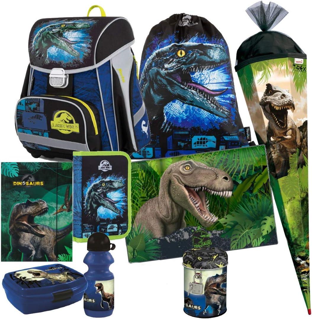 Dino Jurassic World - Juego de Mochila y Estuche Escolar (85 cm, Incluye Pegatinas), diseño de Dinosaurios: Amazon.es: Equipaje