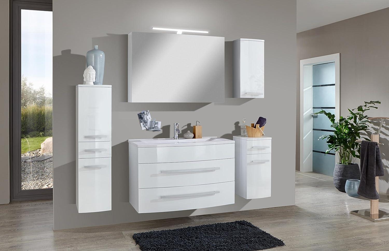 Badmobel 90 Cm ~ Sam® badmöbel set genf deluxe 5tlg in weiß 90 cm