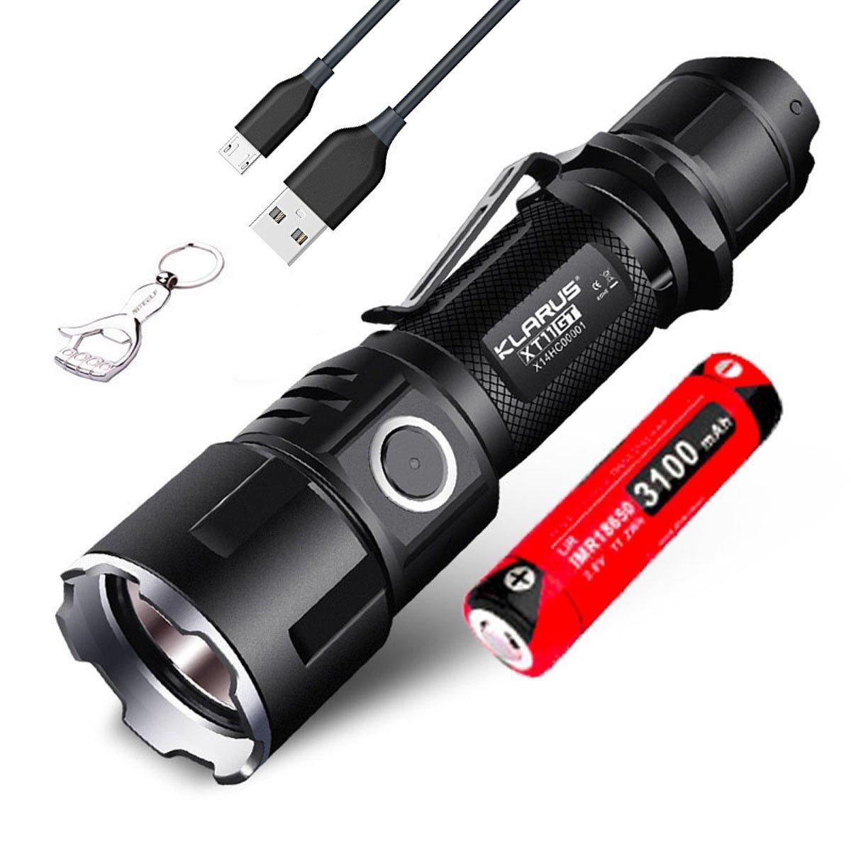 KLARUS XT11GT Taschenlampe LED Super Helle Mit Akku 2000 Lumen Micro-USB Wiederaufladbare Taktische Taschenlampen Military Grade
