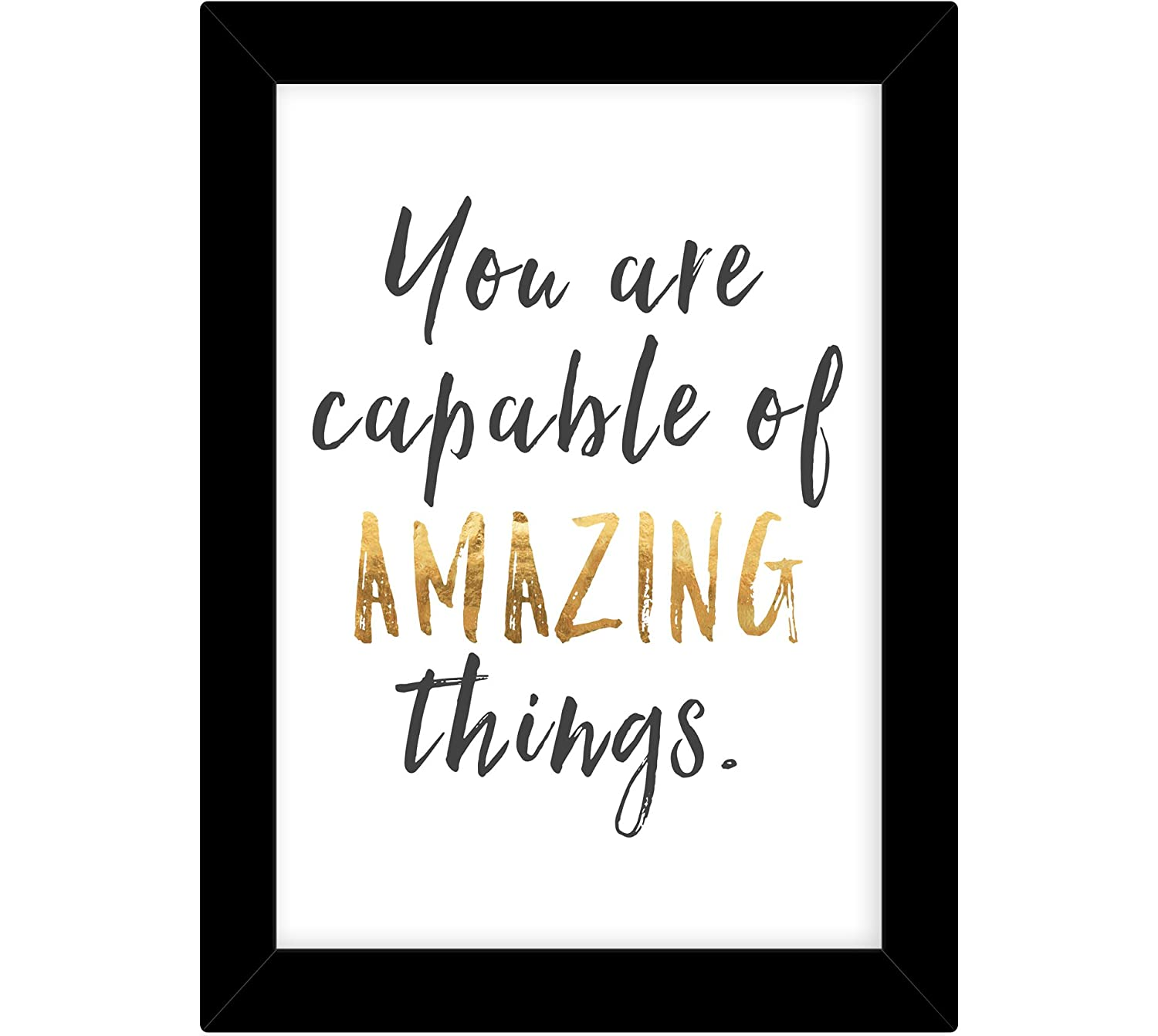 TiedRibbons® Inspirational poster with frame | framed quotes for bedroom | posters for boys | wall posters for girls (13.6 inch X 10.2 inch,Framed Poster)