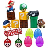 Super Mario Bros 10 Piece Action Figures With 2 Keychains, Mini Super Mario Bros Figures Bundle, Birthay Cake Topper