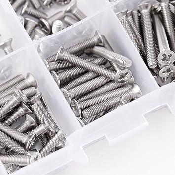 340 piezas M3 304 de acero inoxidable m/étrico hexagonal tornillo tuercas tornillo tap/ón Socket Set Caja Kit