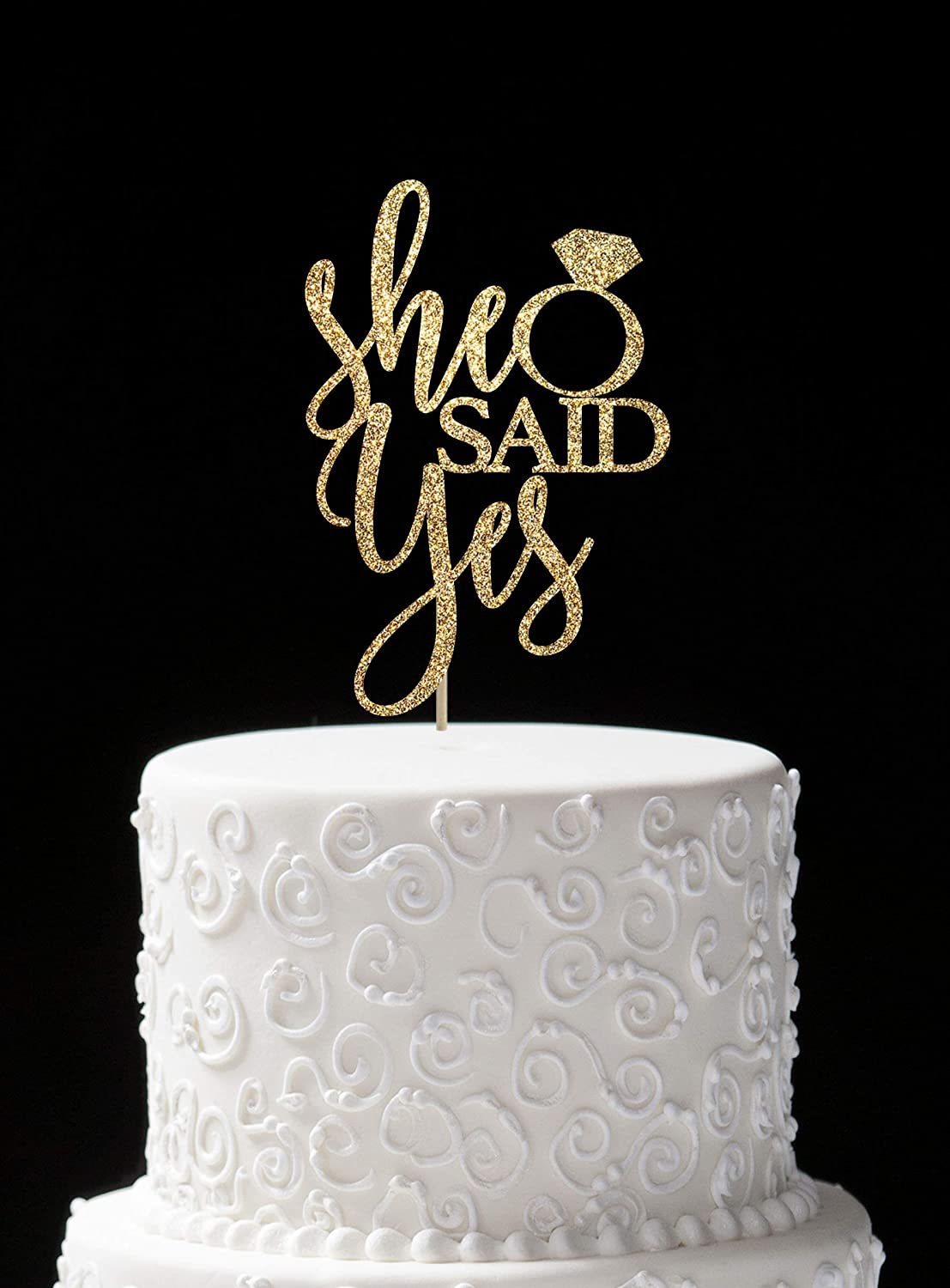 hen party Future Mrs cake topper with the last name Bridal shower cake topper. diamond ring cake topper Personalised engagement party