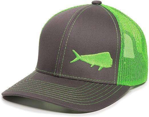 NEW FISH BASS OUTDOOR SPORT FISHING BALL CAP HAT GRAY