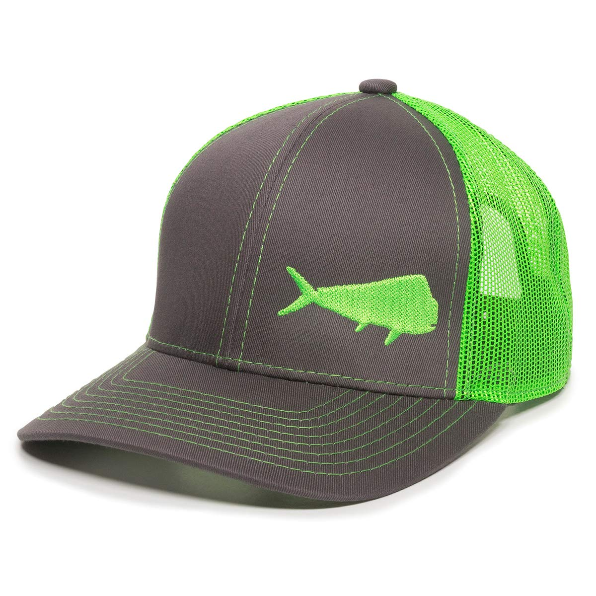 Fish Silhouettes Trucker Hat - Adjustable Baseball Cap w Snapback Closure  at Amazon Men s Clothing store  cc6a9af0ca4