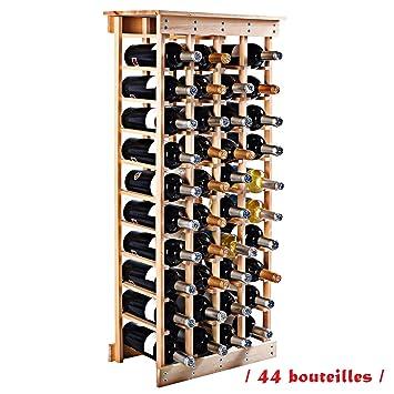 Blitzzauber24 étagère à Vin Casier à Bouteille En Bois De Pin