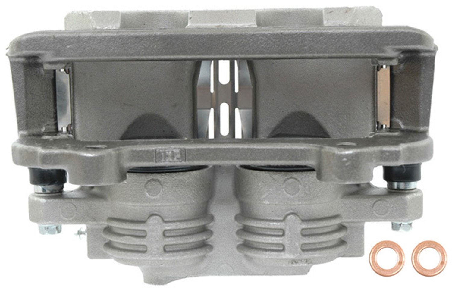 ACDelco 18FR1583 Professional Front Driver Side Disc Brake Caliper Assembly without Pads Friction Ready Non-Coated Remanufactured