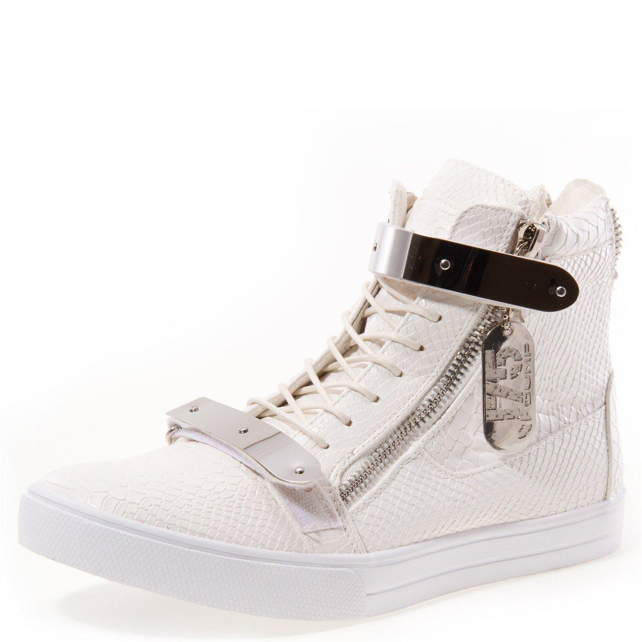 J75 by Jump Men's Zion High-Top Sneaker Navy Silver