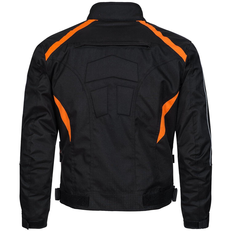 wasserdicht Winddicht Schwarz Orange 784 Gr Limitless Herren Motorradjacke mit Protektoren und Reflektoren Textil Motorrad Jacke aus Cordura XL