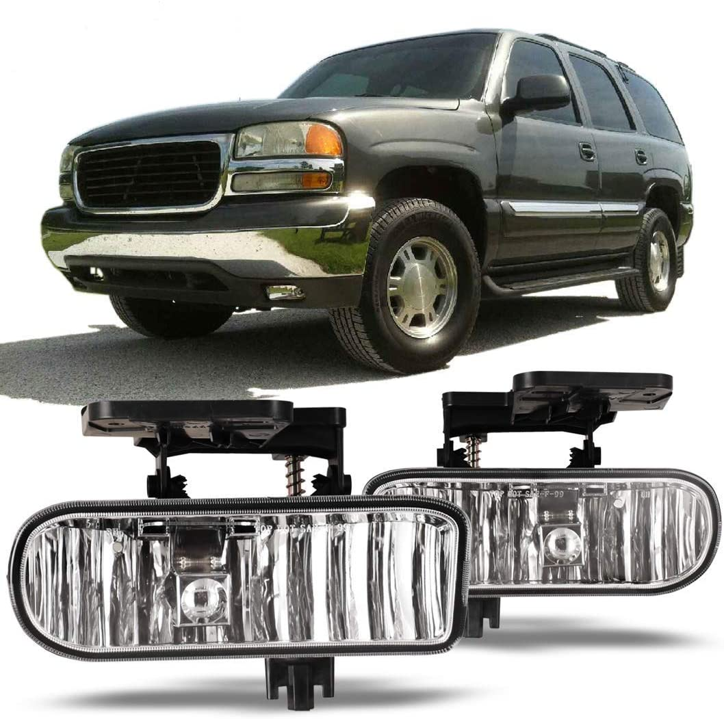 Sierra Yukon Driver and Passenger Fog Lights Lamps Replacement Pickup Truck 10385054 10385055