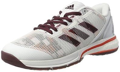 adidas Stabil Boost 20y W, Chaussures de Handball femme, Blanc Cassé