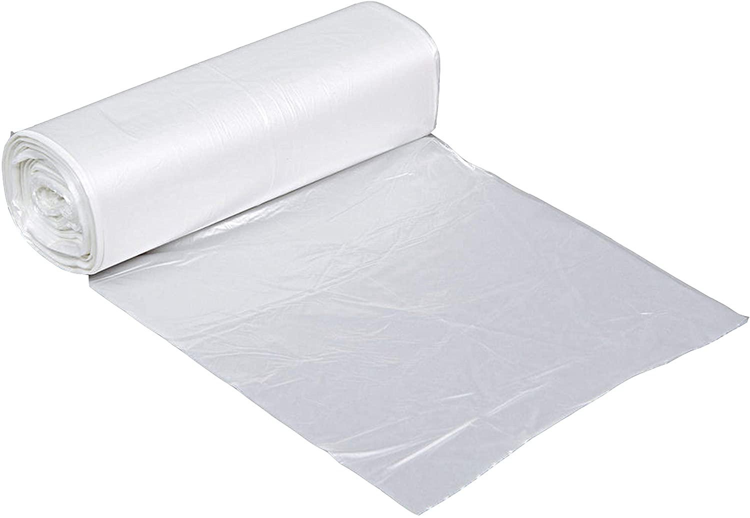 Clear Kitchen Trash Bags 7-10 Gallon Clear Plastic Garbage Bag for Kitchen, Home, Office, Bathroom 48 Pack