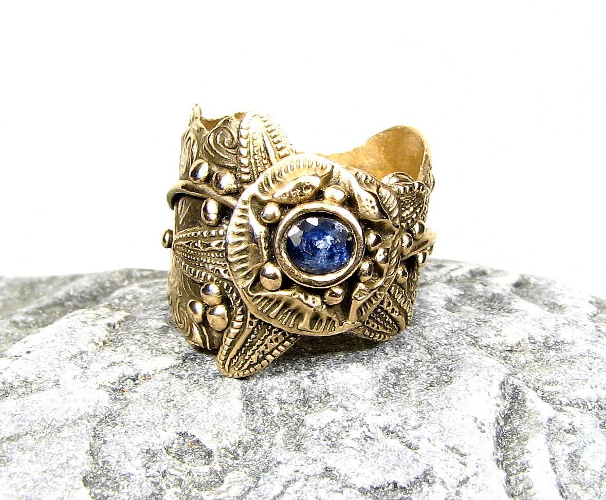 Natural Golden Star Sapphire Antique Style Setting 925 Sterling Silver Ring Jewelry Ring Size 8.5 US Jewelry Best Gift AA 3489