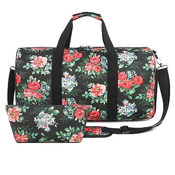 0550593b7f4f9 Oflamn Bolsa de Viaje para Mujeres y Hombres - Bolsa Fin de Semana con Una  Bolsa