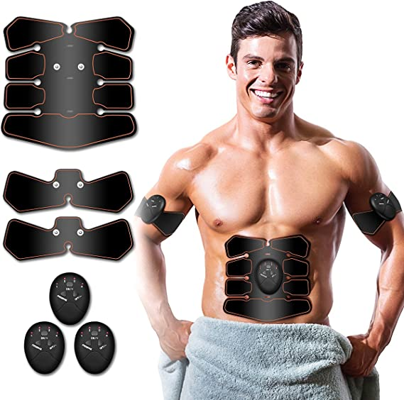 Details about  /Abdominal Muscle Toner Abs Trainer Belt Fitness Arms Muscle Training Stimulator