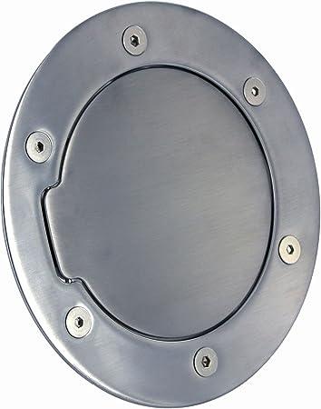 All Sales 6041L Brushed Billet Aluminum Locking Fuel Door