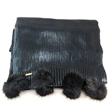 Lollipops P6170 - Echarpe maille noir brillant - 222x37.5 cm  Amazon ... 473ad31464e