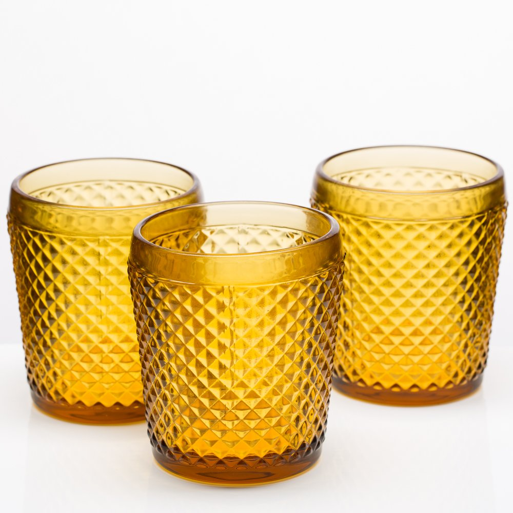 Richland Diamond Candle Holder Amber Set of 48
