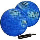 バランスディスク2個セット 32cm 空気入れ付 バランスクッション ヨガクッション 体感クッション[XH710]