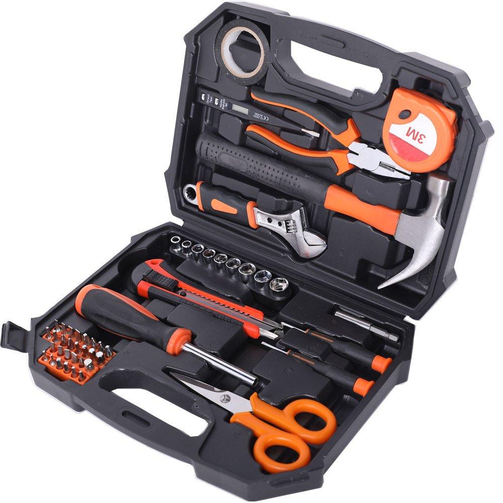 XWT 49PC Chrome-vanadium Steel Household Tool Set Tool Kit for Home
