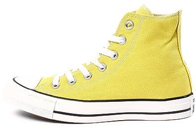 converse montante jaune femme